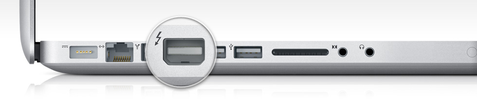Porta Thunderbolt no MacBook Pro