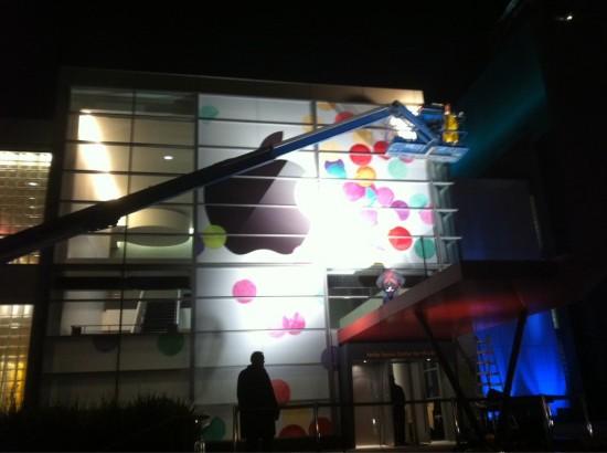 Yerba Buena sendo preparado para o evento do iPad 2