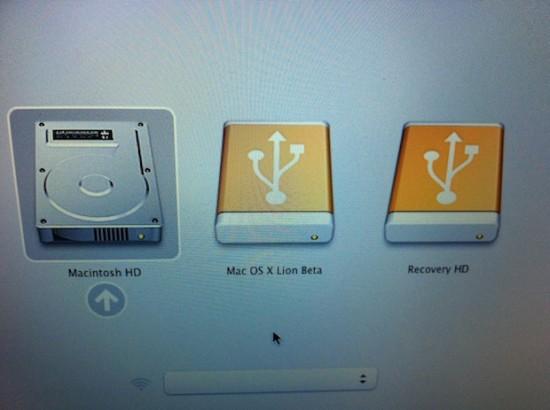 Partição de recuperação no Mac OS X Lion