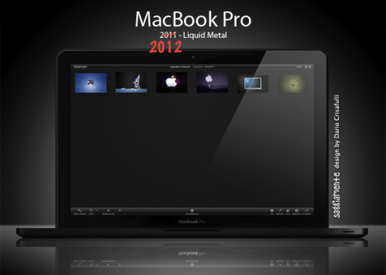 Mockup de MacBook Pro feito de Liquidmetal