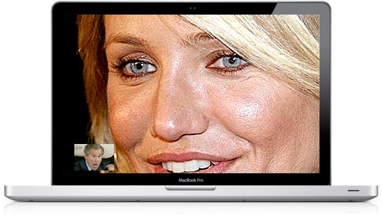 Piadinha com o FaceTime HD