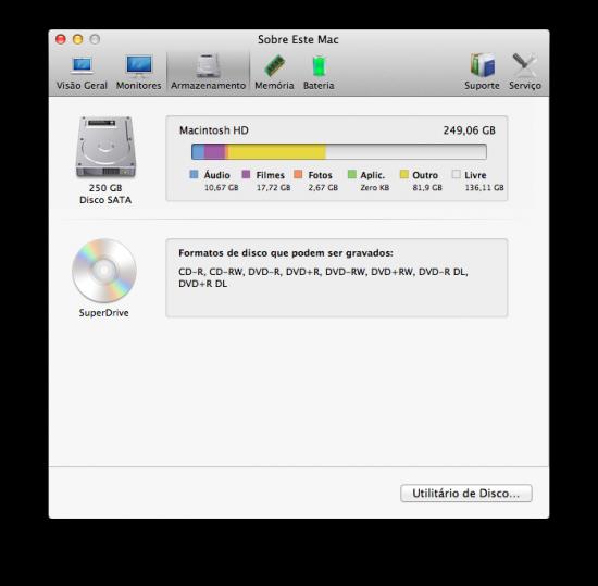 Sobre Este Mac - Mac OS X 10.7 Lion