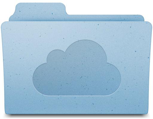 Ícone de pasta do MobileMe com nuvem