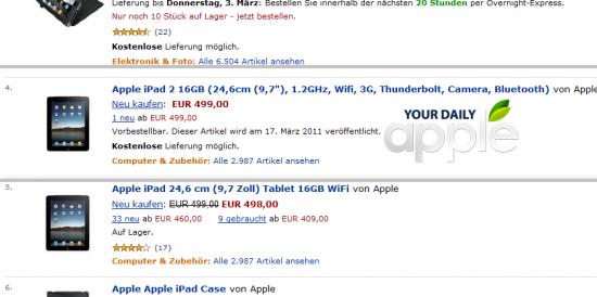 iPad 2 com Thunderbolt na Amazon