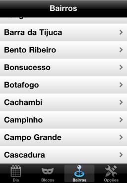 Blocos Carnaval Rio - iPhone