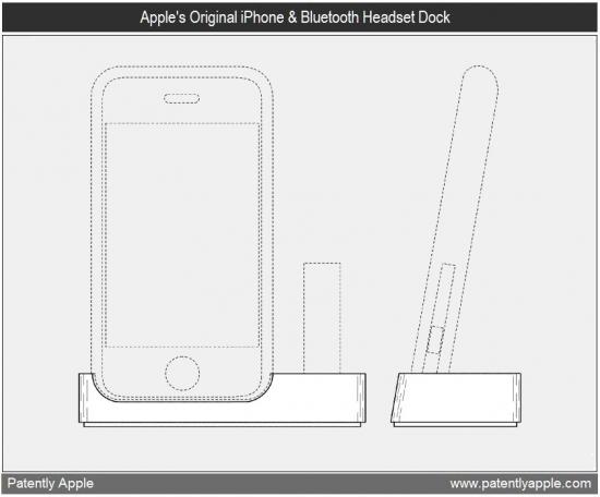 Design do dock para iPhone e headset