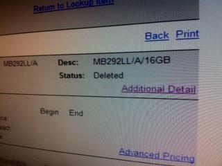 iPad deletado na Best Buy