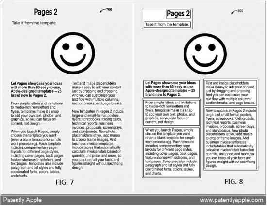 Patente de seleção de textos divididos em colunas no Preview