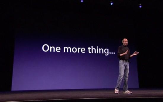 Steve Jobs com one more thing