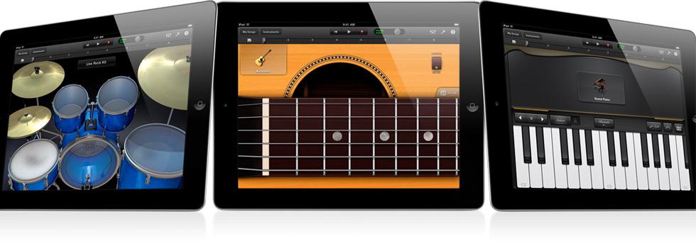 GarageBand no iPad 2