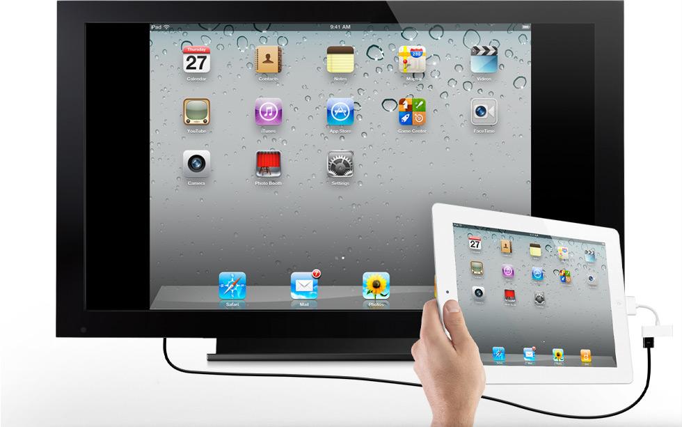 Espelhamento com cabo HDMI do iPad 2