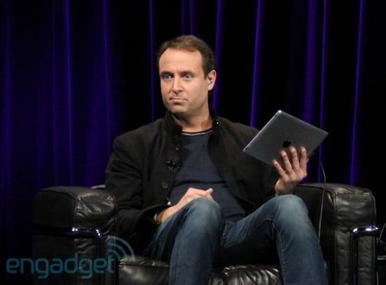 Xander Soren demonstrando o GarageBand no iPad 2