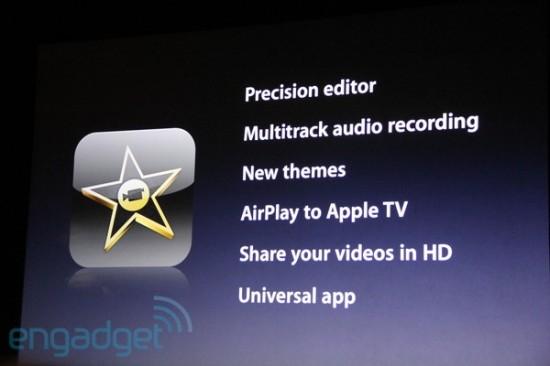 Recursos do iMovie para iPad 2