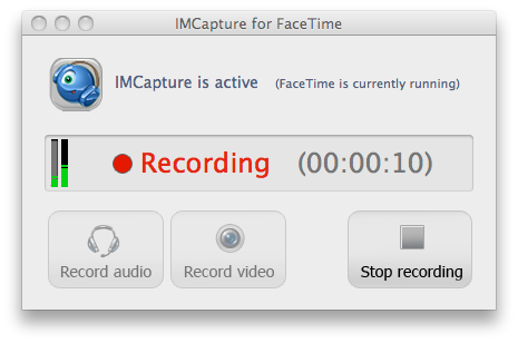 IMCapture for FaceTime no Mac