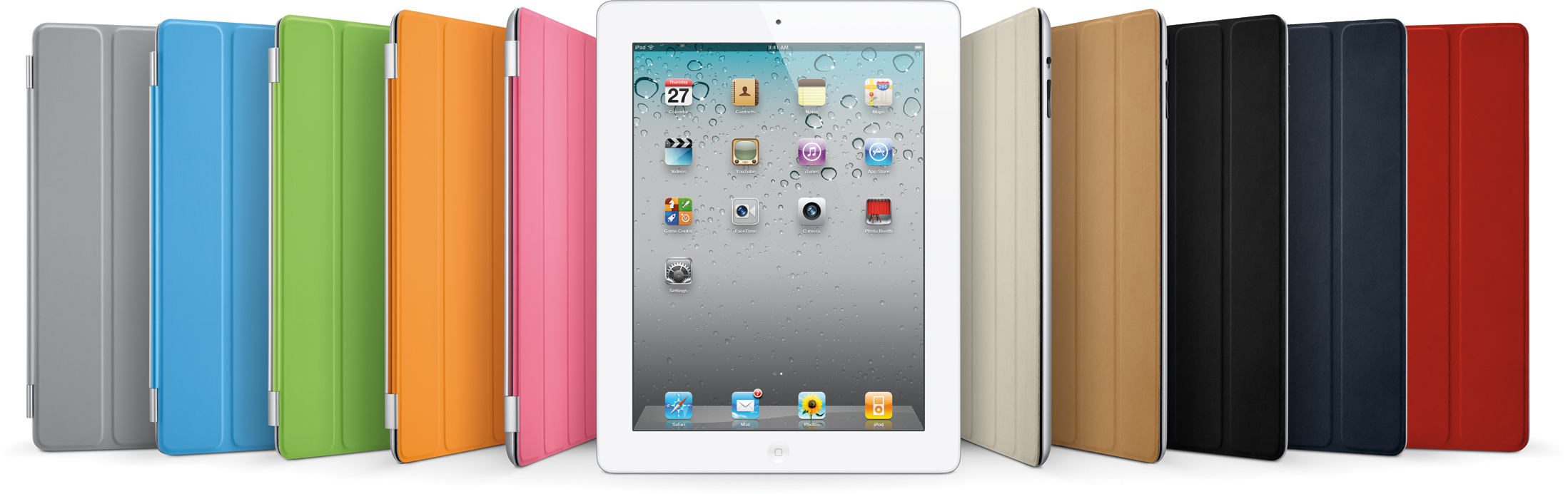 iPad 2 com Smart Covers (capas) coloridas