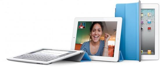iPad 2 com Smart Covers (capas) dobradas