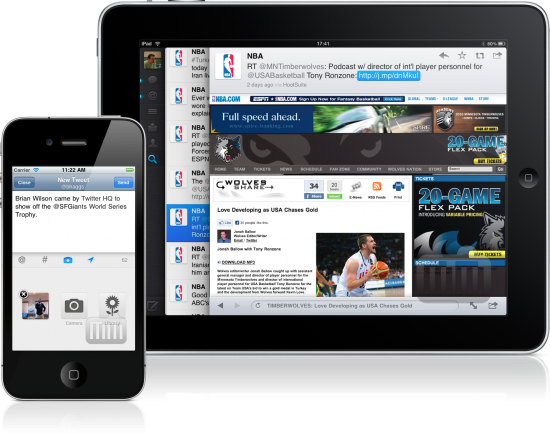 Twitter no iPad e no iPhone