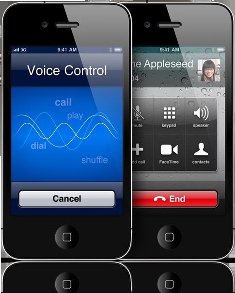 Voice Control no iPhone 4