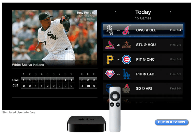 MLB.TV na Apple TV