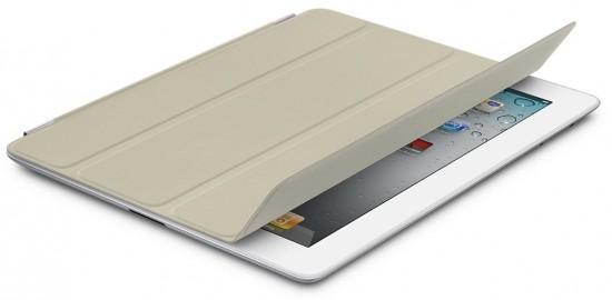 iPad 2 branco com Smart Cover bege