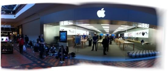Fila para comprar o iPad 2 - Pheasant Lane