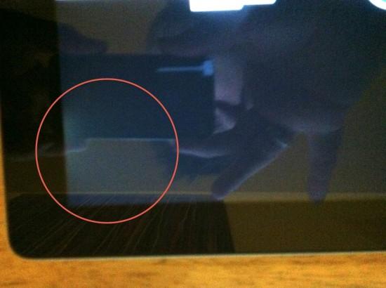 iPad 2 com mancha amarelada na tela