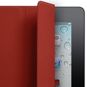 iPad preto Smart Cover vermelha - miniatura