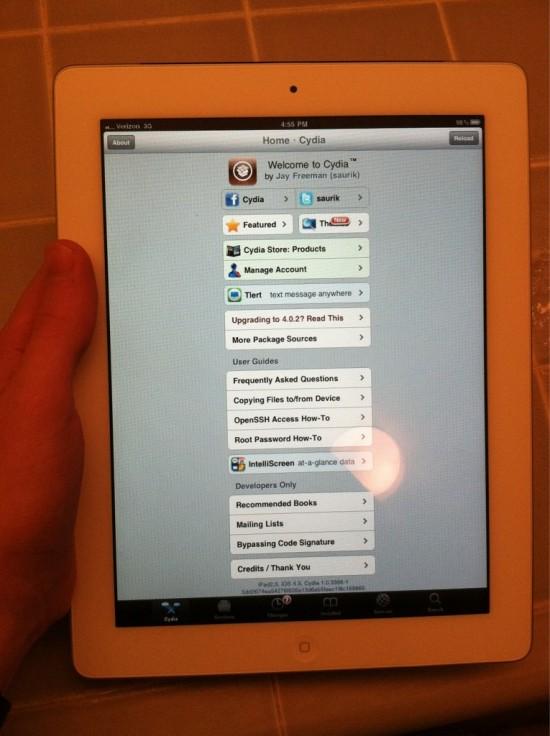 iPad 2 com jailbreak