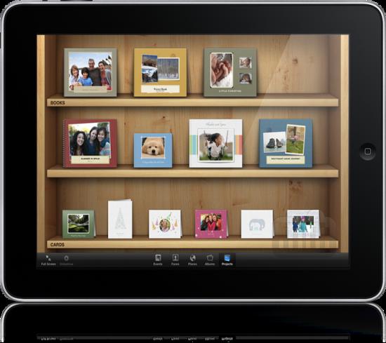 iPhoto posto à força num iPad