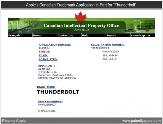 Registro de marca Thunderbolt