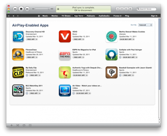 AirPlay apps na App Store