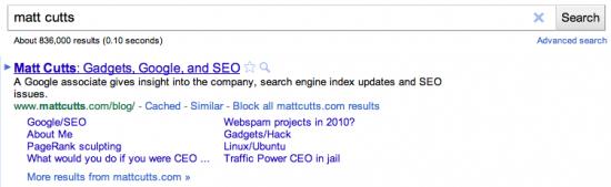 Bloqueando sites no Google