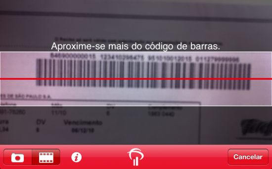 Código de barras do Bradesco para iOS