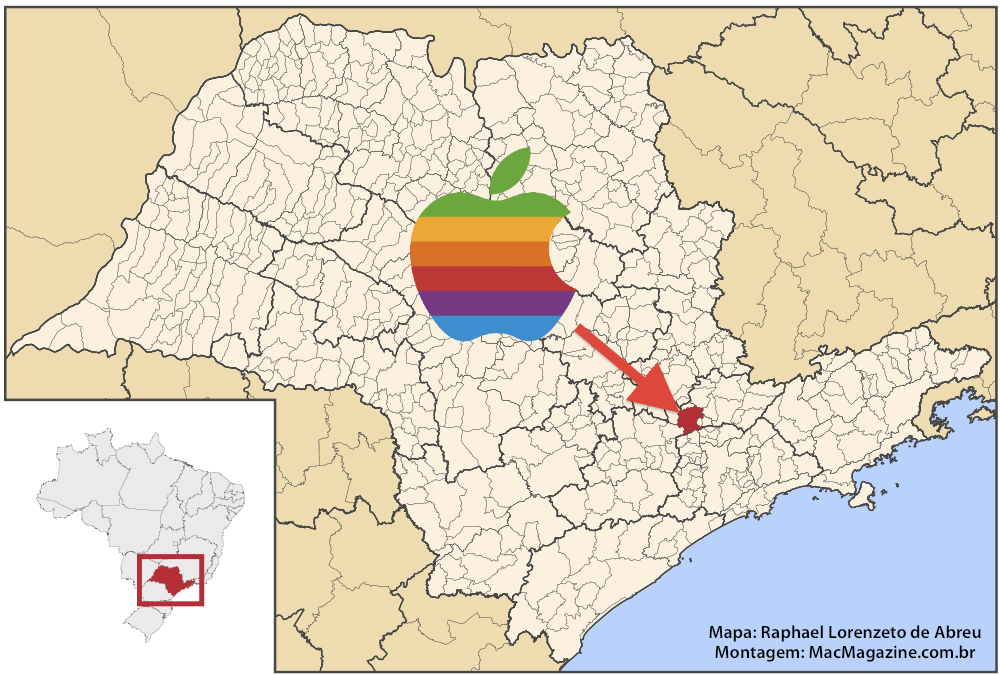 Linha de montagem da Apple em Jundiaí