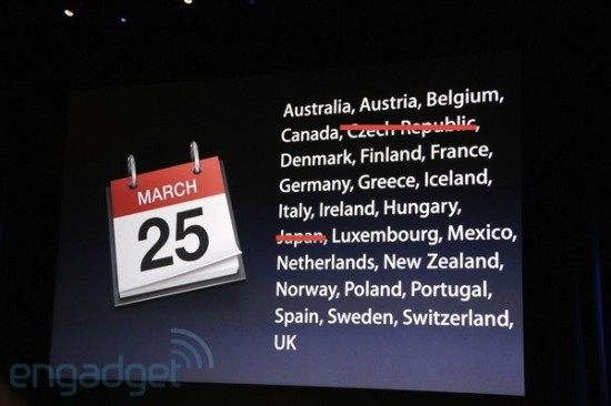 Disponibilidade internacional do iPad 2 - atualizada