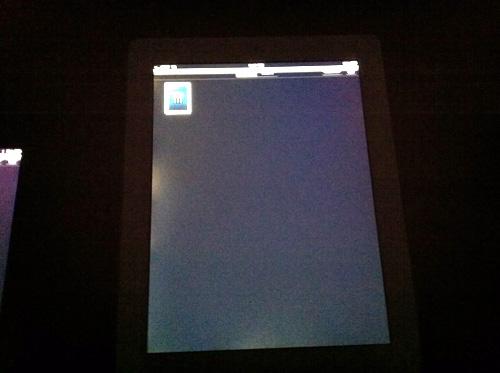 iPad 2 com vazamentos de luz
