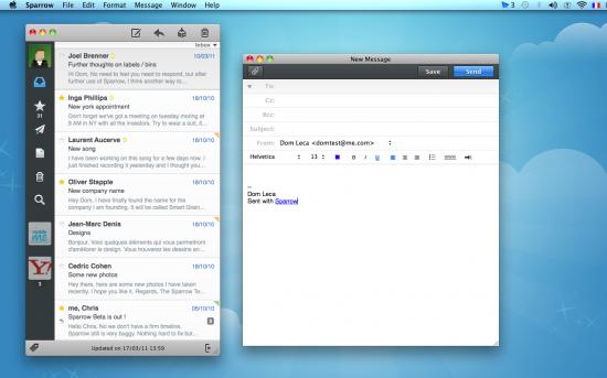 Sparrow 1.1 no Mac