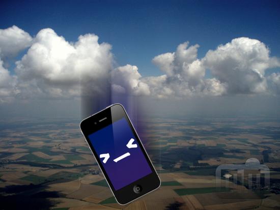 iPhone caindo do céu