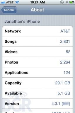 iOS 4.3.1 nas mãos do BGR