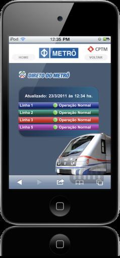 Metrô de São Paulo no iPod touch