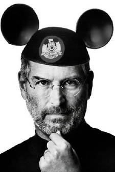 Steve Jobs com chapéu do Mickey, da Disney