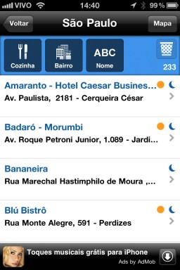Restaurant Week 2011 - iPhone