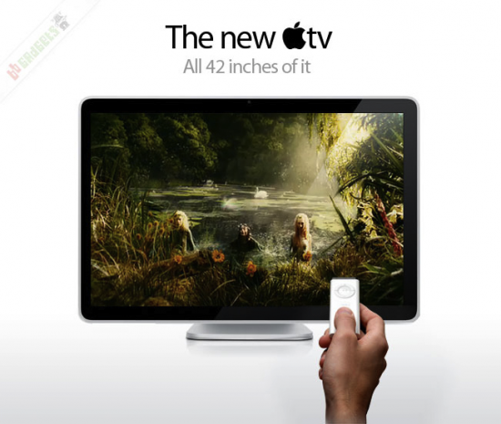 Antigo mockup de televisor da Apple