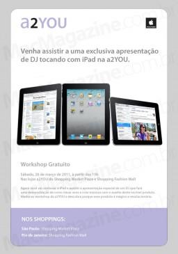 Workshop da a2YOU - DJs com iPads
