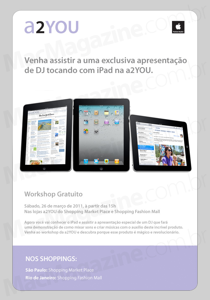 Workshop da a2YOU - DJs com iPads