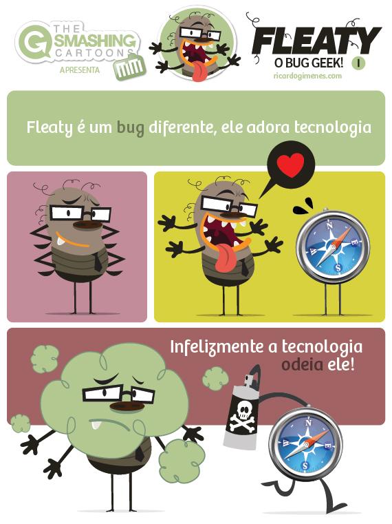 The Smashing Cartoons - Fleaty, o bug geek!
