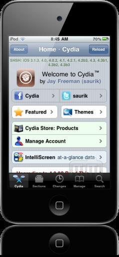 Cydia 1.1 num iPod touch