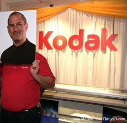 Rosto de Steve Jobs na Kodak