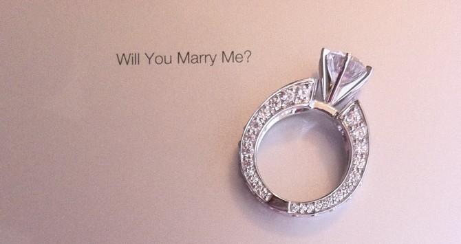 Pedido de casamento gravado em iPad