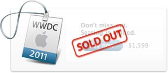 WWDC 2011 esgotada